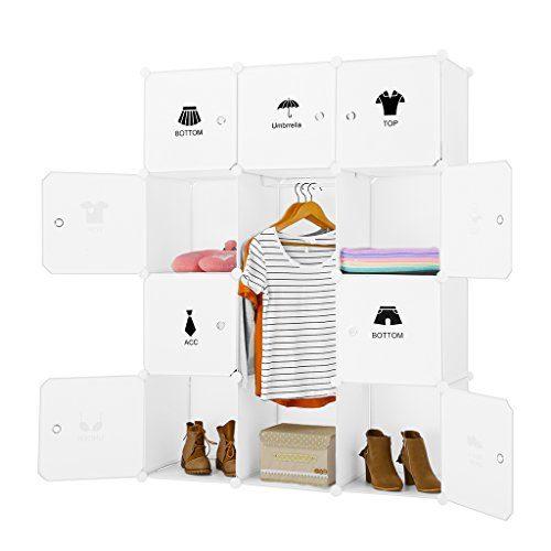 6 Cubos, Rosa LANGRIA Armario Modular Infantil de Puertas con Pegatinas de Animales Estanter/ías por M/ódulos Armario Zapatero de Almacenaje para Ropa Zapatos Juguetes Material Escolar